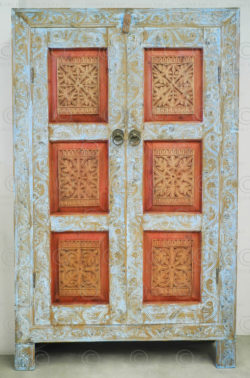 Swat painted cupboard 17F55A. Swat valley, Northern Pakistan.