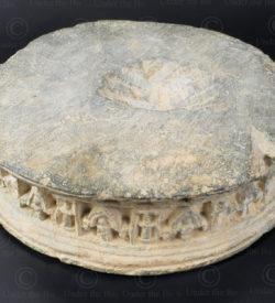 Gandhara column component PK239. Ancient Buddhist kingdom of Gandhara. Found in the valley of Swat, Northern Pakistan.