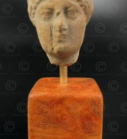 Gandhara terracotta head PK225. Ancient Buddhist kingdom of Gandhara. Found in the Charsada area, northern Pakistan.