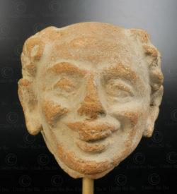 Gandhara terracotta head PK243. Ancient Buddhist kingdom of Gandhara. Found in the valley of Swat, Northern Pakistan.