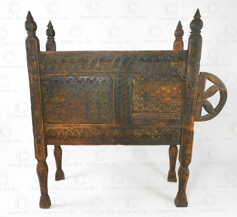 Kohistan antique chest 17F17. Alla-i valley, Indus Kohistan region, Northern Pakistan.