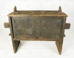 Nuristan antique chest SB19. Kamdesh valley, Nuristan mountains, Eastern Afghanistan.
