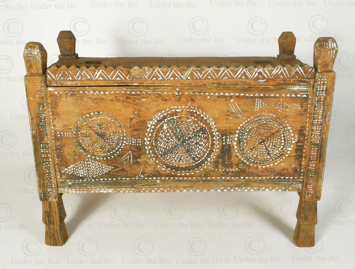 Waziristan antique chest 17F12. Waziristan region, North-Western Pakistan.