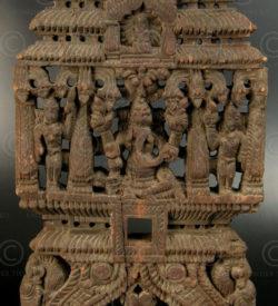 Ganesh kavadi panel 08KK4A. Tamil Nadu state, Southern India.
