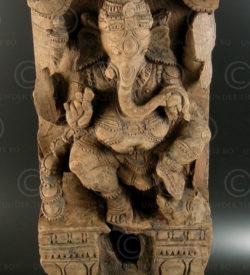 Ganesha temple chariot panel 08LN16. Tamil Nadu state, Southern India.