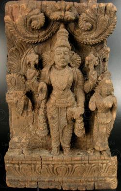 Kerala Vishnu panel 08LN6A. Kerala state, Southern India.