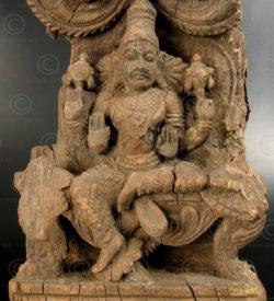 Kerala Vishnu panel 08LN6B. Kerala state, Southern India.