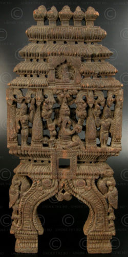 Panneau Ganesh de kavadi 08KK4A. État du Tamil Nadu, Inde du sud.