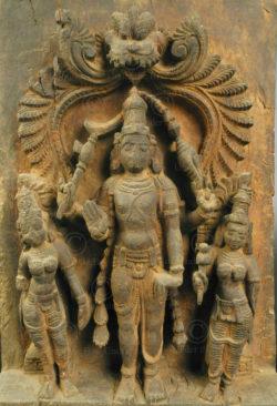 Panneau Harihara de char de temple IN690. État du Tamil Nadu, Inde du sud.