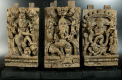 Three temple chariot panels 08LN11. Tamil Nadu state, Southern India.
