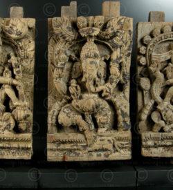 Three temple chariot panels 08LN11. Tamil Nadu state, Southern India.