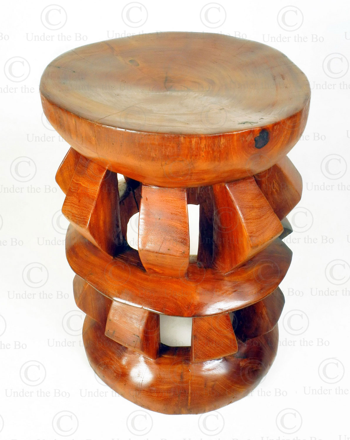 Cameroon style stool 18FV-S7. Made at Under the Bo workshop.
