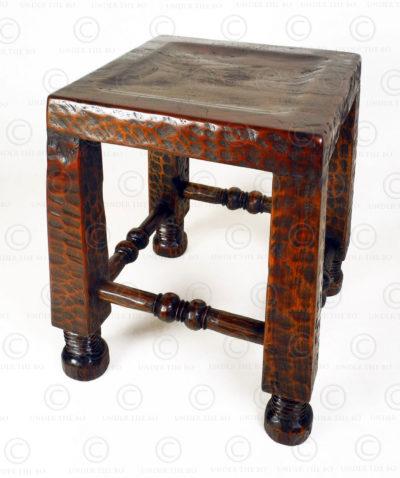 Chokwe style stool 18FV-S12. Made at Under the Bo workshop.