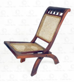 Folding chair C21-98. Rose wood, and woven rattan. Southern India