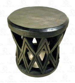 Mangbetu style stool 18FV-S2. Made at Under the Bo workshop.