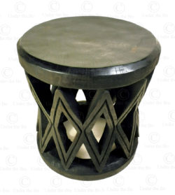 Mangbetu style stool 18FV-S2. Made at Under the Bo workshop.