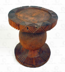 Mangbetu style stool FV519A. Made at Under the Bo workshop.