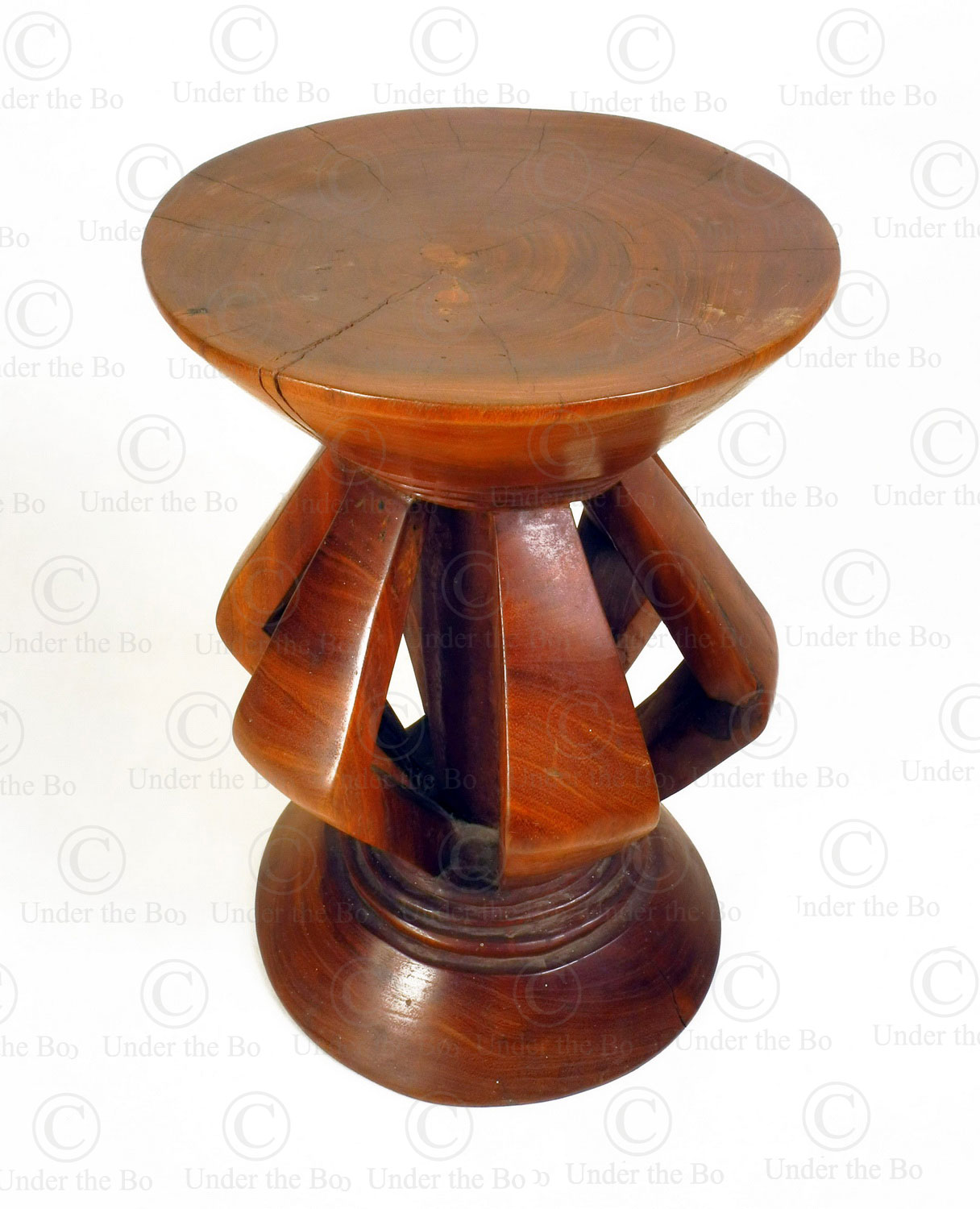 Pende style stool FV319. Made at Under the Bo workshop.