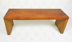 Square arch bench FV146A. Made at Under the Bo workshop. François Villaret design.