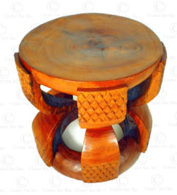 Zambia style stool 18FV-S4. Made at Under the Bo workshop.