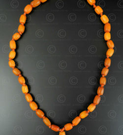 Antique amber rosary BD299. India.