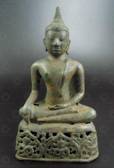 Ayutthaya bronze Buddha T476. Ayuthaya style and period, Siam (Thailand).