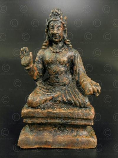 Bodhisattva Gandhara bronze PK252. Ancien royaume bouddhiste de Gandhara, trouvé dans la vallée de Swat, nord du Pakistan.