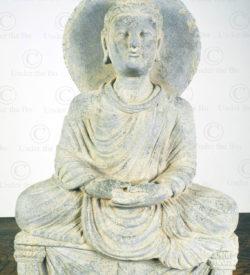 Bouddha Gandhara schiste PK256. Ancien royaume de Gandhara (Pakistan).