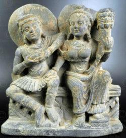 Frise Panchika-Hariti Gandhara PK257. Ancien royaume de Gandhara (Pakistan).