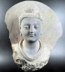 Gandhara schist bust PK254. Ancient kingdom of Gandhara (Pakistan).