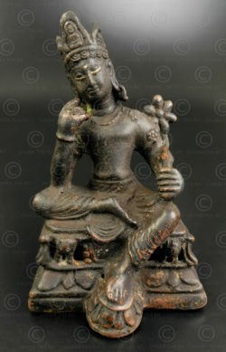 Hindu Shahi bronze Bodhisattva PK253. Ancient Buddhist kingdom of Gandhara. Found in the Swabi district, Northern Pakistan.