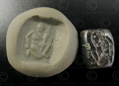 Ancient Scythian seal 13SH2D1. Nimruz province of Afghanistan, formerly Sistan, an ancient kingdom founded by the Sakas, a Scythian tribe of Iranian origin.