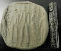 Sceau cylindre schiste Bactriane 13SH20CNord de l'Afghanistan, anciennement royaume de Bactriane.