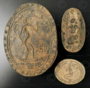 Pyu bone seals BU468E. Found in a clay pot near the ancient city of Pegu (renamed Bago), Burma.