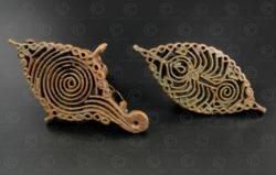 Timbres corporels hindous bronze IN692. Inde. 19ème siècle.