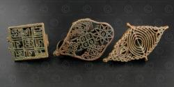 Timbres corporels hindous bronze IN693. Inde. 19ème siècle.