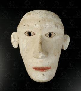 Bidayuh white mask BO257D. Bidayuh Dayak culture, Sarawak, Borneo island.