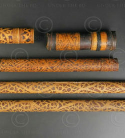 Borneo bamboo containers set BO268. Iban Dayak culture, various villages of West Kalimantan, Borneo island.