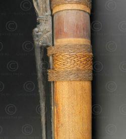 Carquois à fléchettes empoisonnées Bornéo BO271. Culture dayak iban, rivière M'baloh, Kalimantan de l'ouest, île de Bornéo.