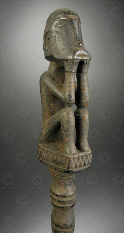Charme de piège à sangliers iban BO272. Culture dayak iban, Kapar, Tangit, Kalimantan de l'ouest, île de Bornéo.