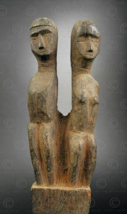 Fétiche tribu Santal IN696. Culture santal, province du Bengale de l'ouest ou Bihar, est de l'Inde.