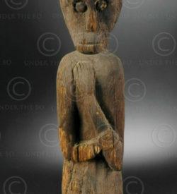 Statue hempatung Bornéo BO197. Tribu dayak iban, Sarawak ou Kalimantan de l'ouest, île de Bornéo.