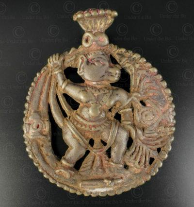 Pendentif Hanuman 16N37. État du Maharashtra, Inde du sud.