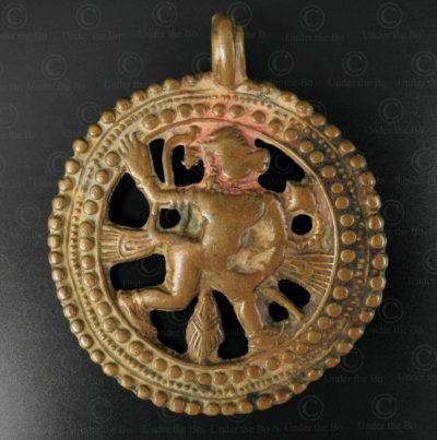 Pendentif Hanuman 16N42. État du Maharashtra, Inde du sud.