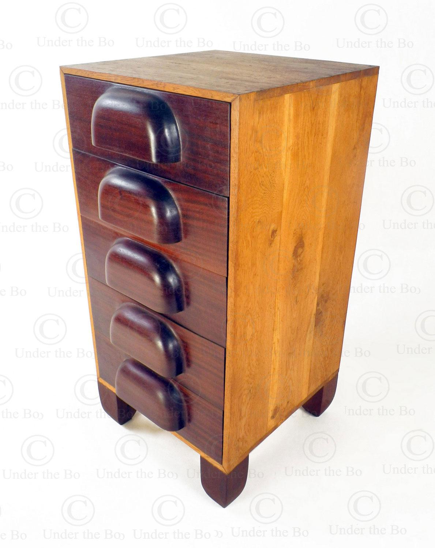 Chest of five drawers FV166B. Designed by François Villaret. Manufactured at Under the Bo workshop.