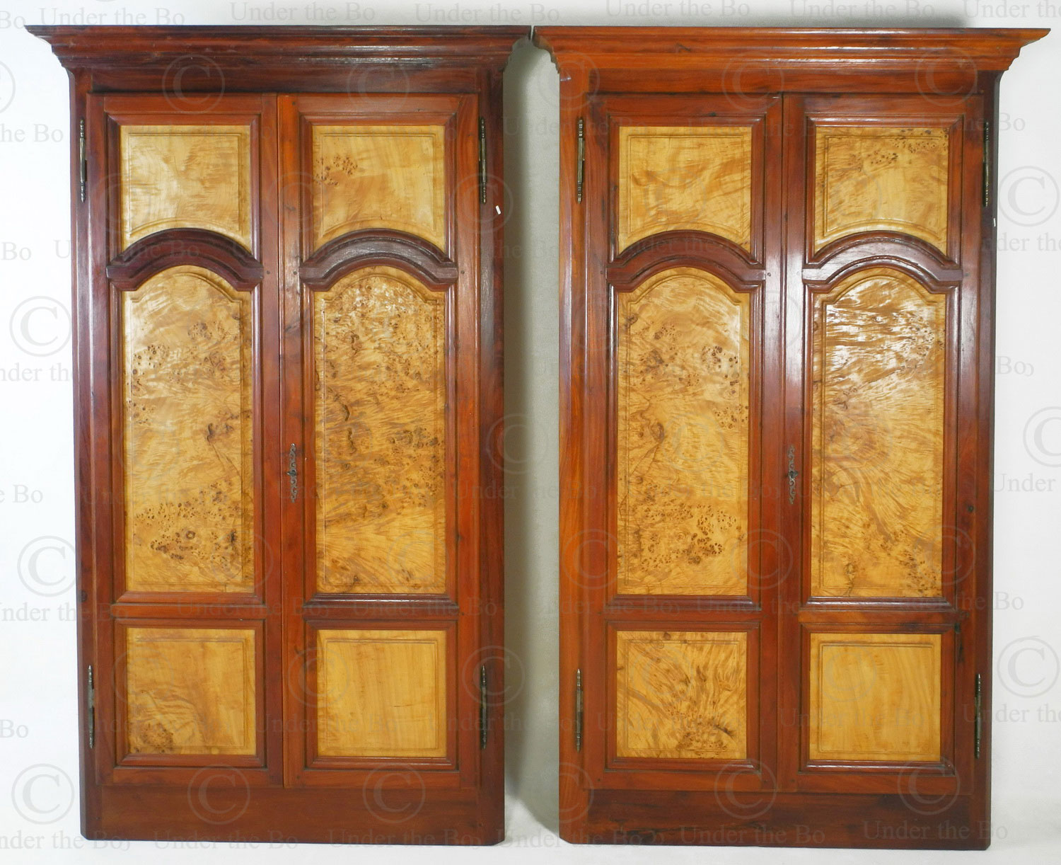 Cupboard fronts FV152. France's Louis-Philippe style, mid-19th century. Made at Under the Bo workshop.