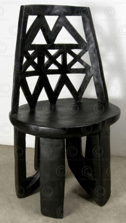 Ethiopian style chair FV126. Ethiopian tribal style, manufactured at Under the Bo workshop.
