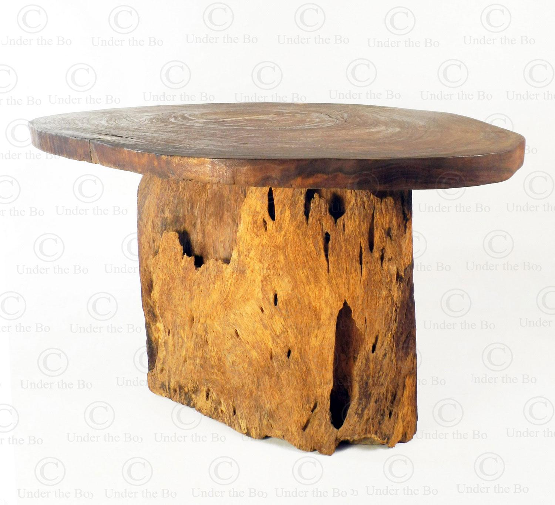 Organic shaped table FV165. Designed by François Villaret. Manufactured at Under the Bo workshop.