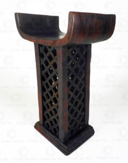 Trône royal style Fon 19FVS5. Culture Fon, de style Akan, Benin - manufacturé à l'atelier Under the Bo.