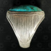Turquoise and silver ring R288P. Central Asia culture.
